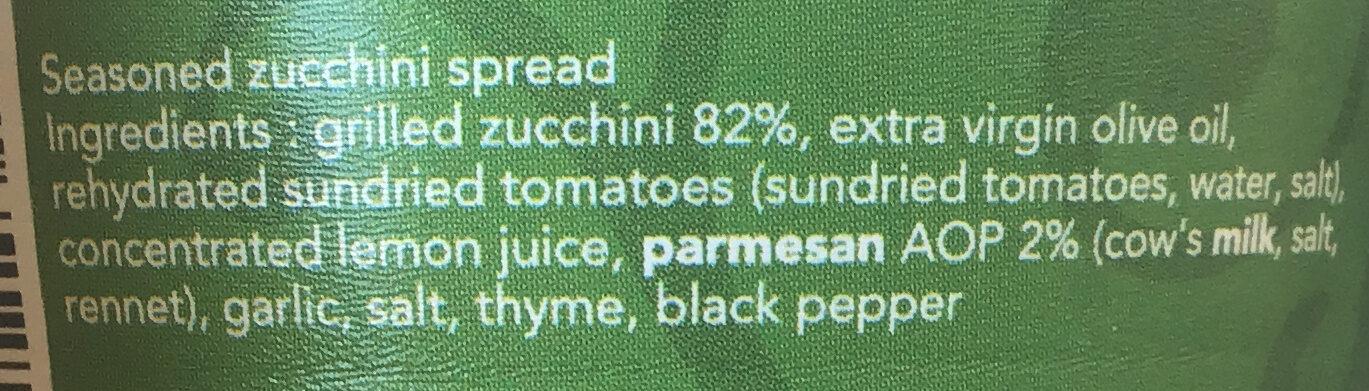 Courgette au parmesan - Ingredients - en