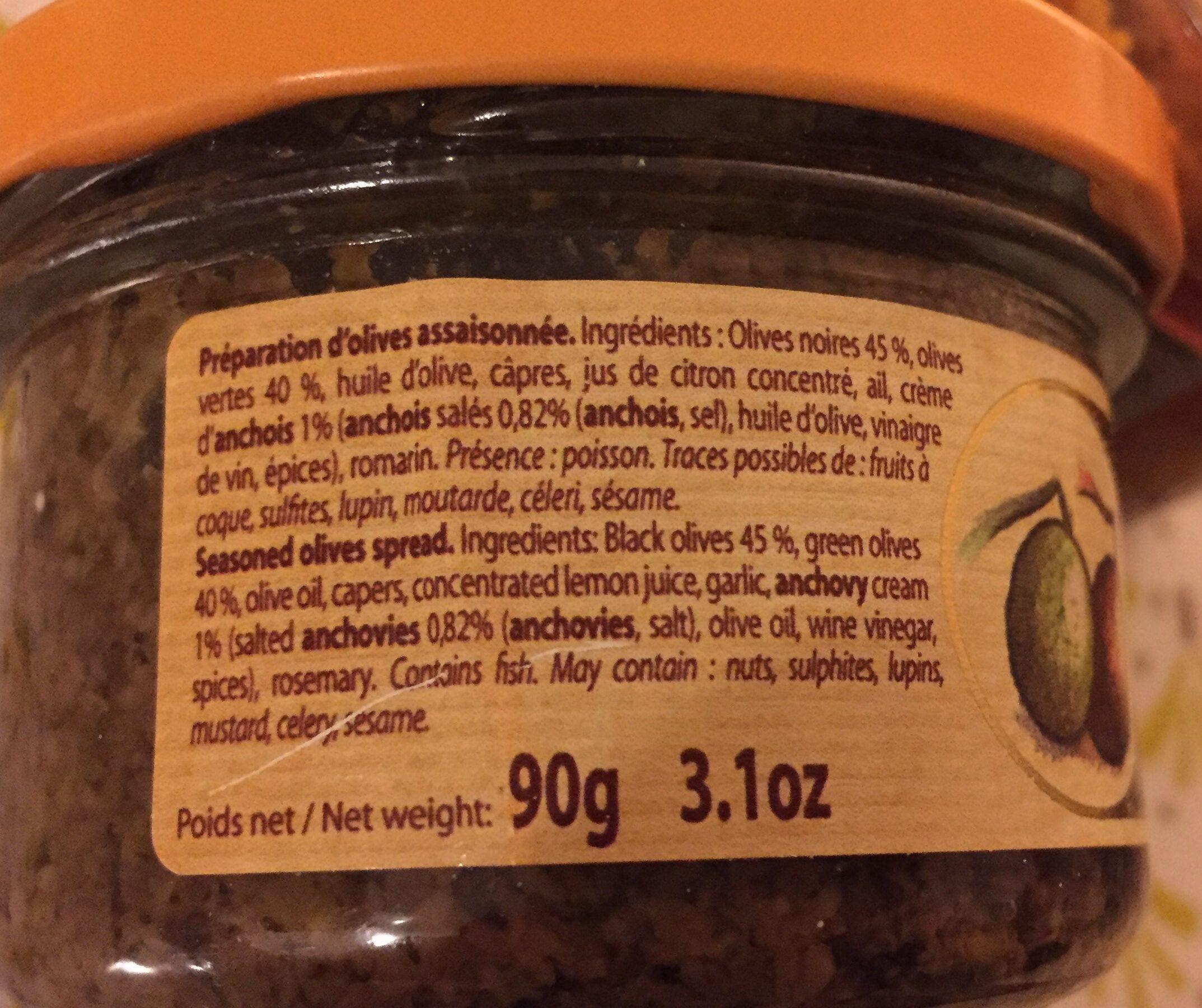 Duo d'olives à l'ancienne - Ingrédients - fr
