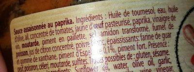Délice De Luberon, Rouille, Esp, 90g - Ingrediënten - fr