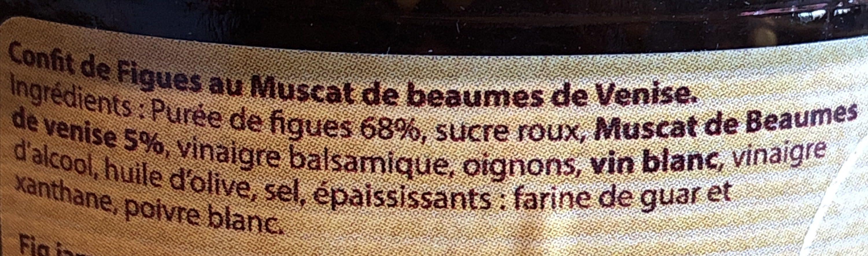 Confit de figues au Muscat de Beaumes de Venise - Ingredients - fr