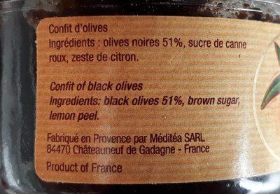 Confit d' Olives - Ingrédients