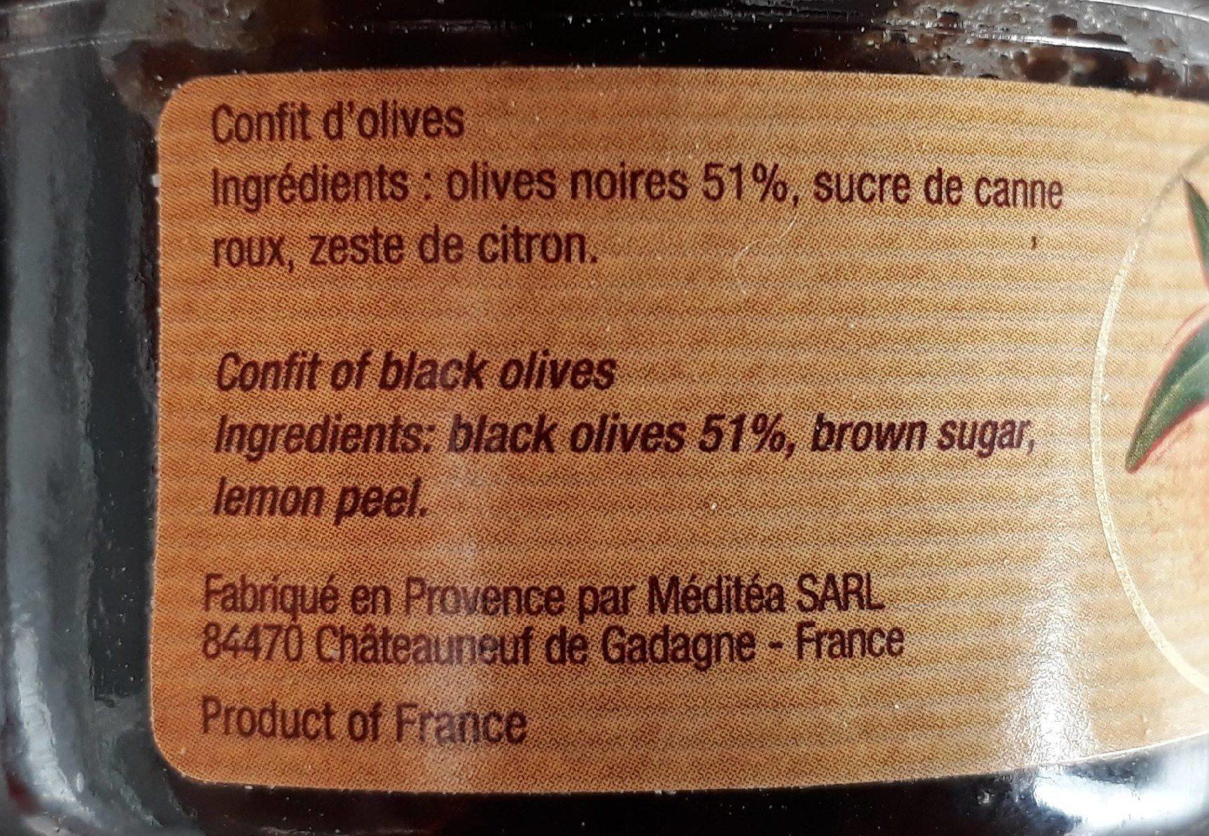 Confit d' Olives - Ingrédients - fr