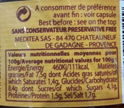 Creme Aus Roten Paprika / Oliven - Les Délices Du Lubéron - Ingrédients