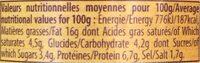 Délice de chèvre aux tomates séchées - Informations nutritionnelles - fr