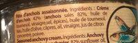Crème D'anchois - Ingrédients - fr