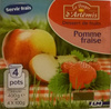 Dessert de fruits pomme fraise - Product
