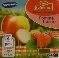 Dessert de fruits pomme fraise - Produit - fr