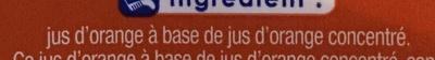 Jus Orange - Ingrediënten - fr