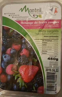 Mélange de fruits rouges surgelés - Product