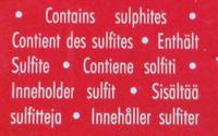 Cabernet-Syrah - Ingrediënten - fr
