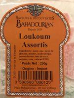 Loukoum assortis - Ingredients - fr