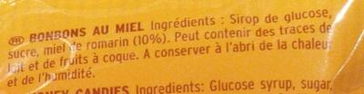 (Bonbons) Miel de romarin - Ingrediënten - fr