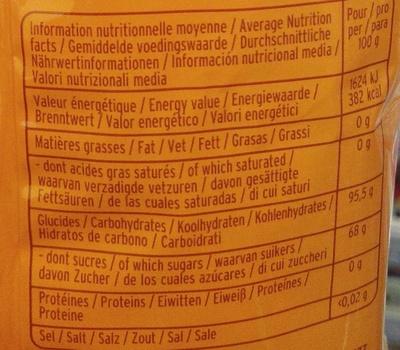 (Bonbons) Miel de romarin - Voedingswaarden