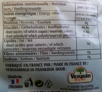 Mini pastille du mineur sans sucres - Informations nutritionnelles