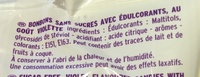 Violettes sans sucres Stévia - Ingrediënten - fr
