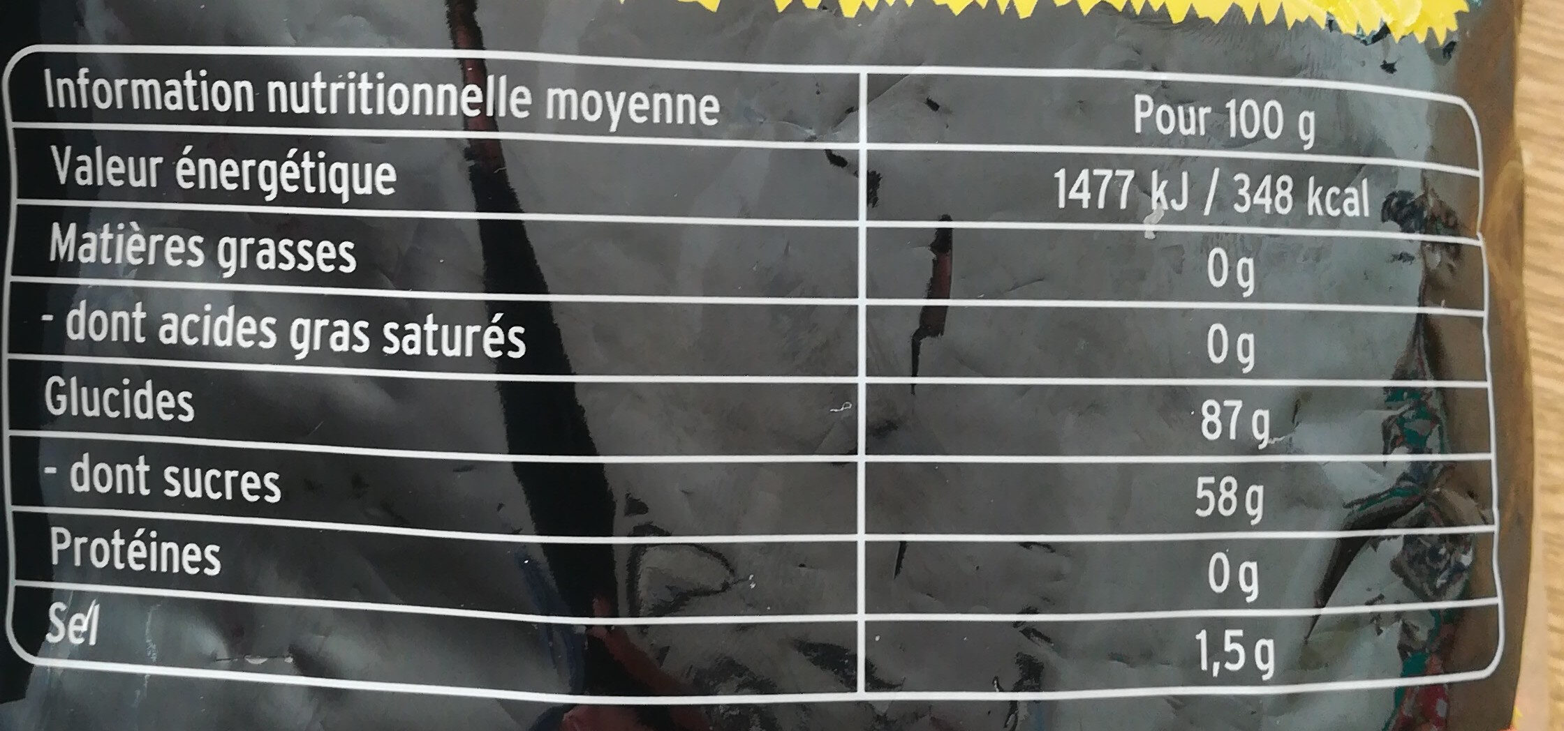 Têtes Brûlées Mega Mix Billes - Voedingswaarden - fr