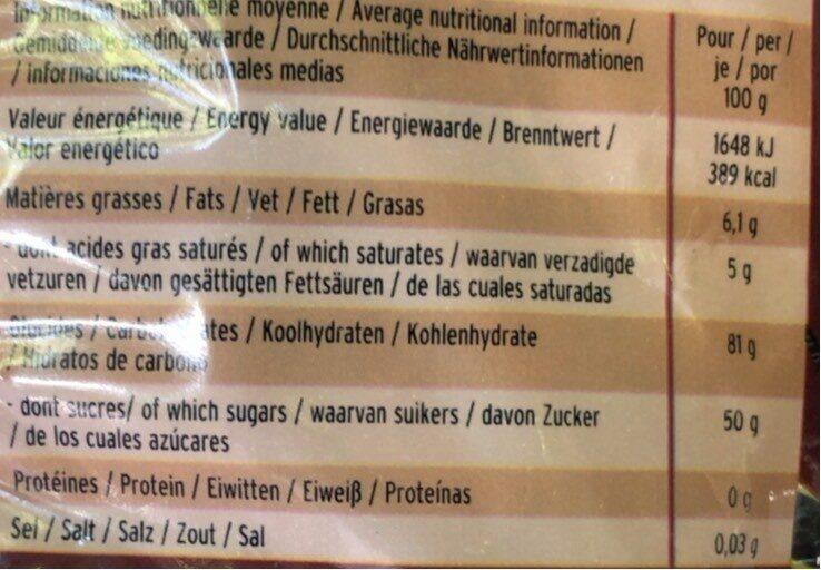 Têtes brulees - Informations nutritionnelles - fr