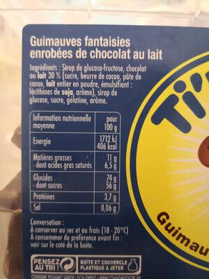 Ti'nounours - Ingredients