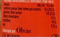 Mogettes cuisinees a la tomate - Informations nutritionnelles - fr