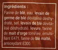 Baguette grande saveur - Ingredienti - fr