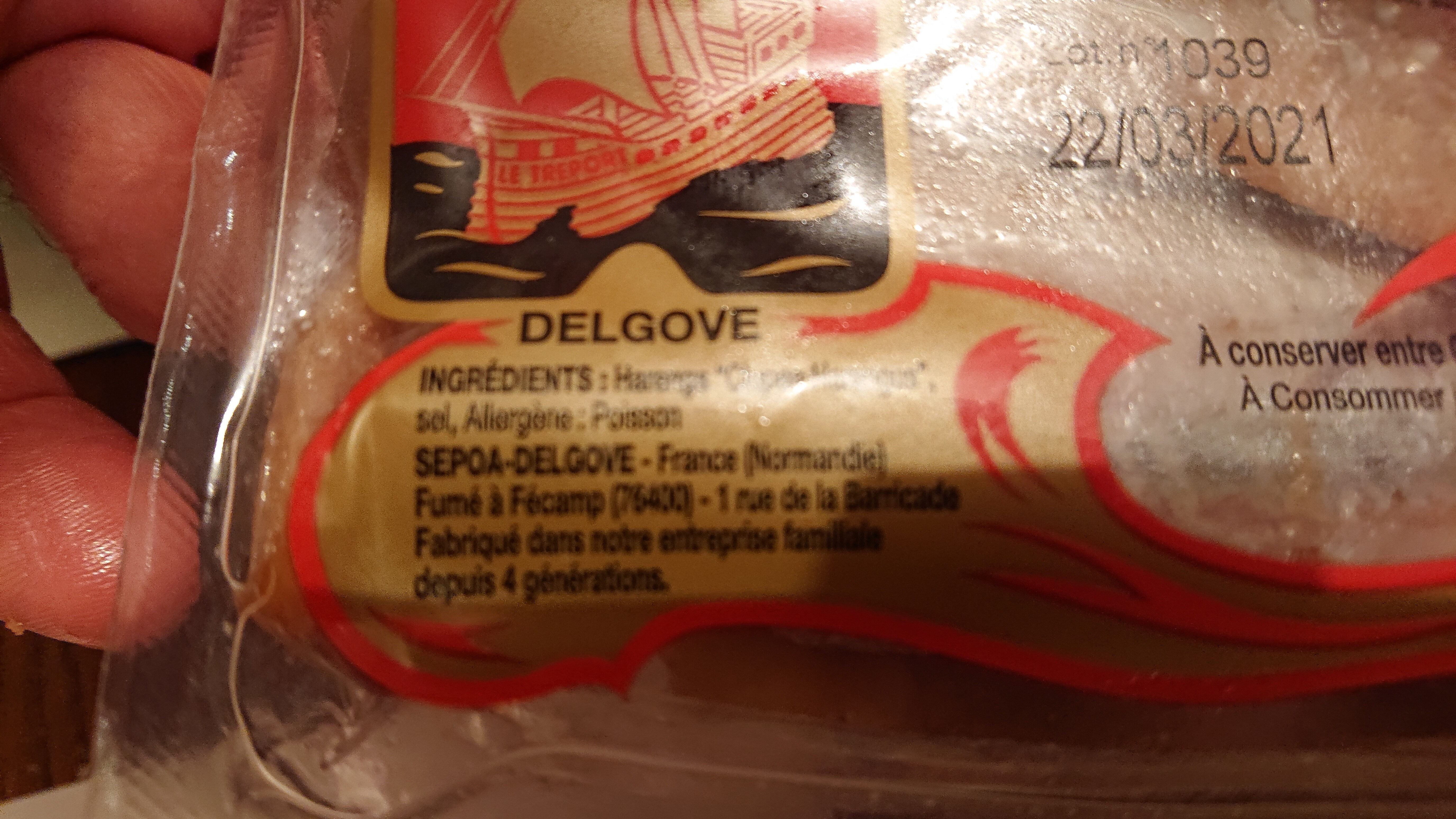Filets de hareng fumés - Ingredients - fr