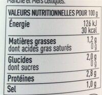 Soupe 3 poissons aux algues - Nutrition facts - fr