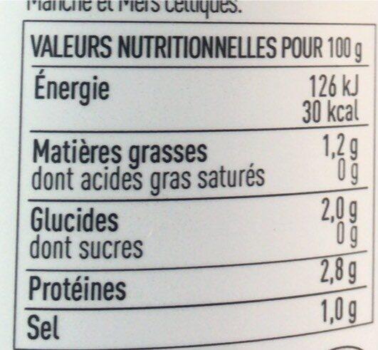 Soupe 3 poissons aux algues - Valori nutrizionali - fr
