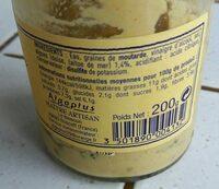Moutarde Forte Aux Algues - Nutrition facts - fr