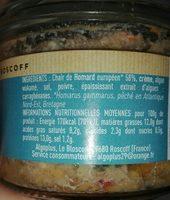 Rillettes de homard - Ingredients