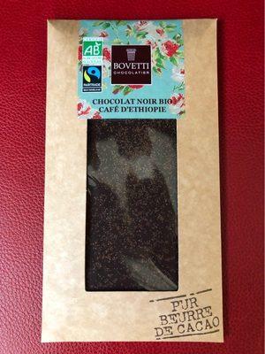 Chocolat noir bio au café d'Ethiopie - Produit - fr