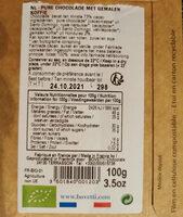 Chocolat noir bio au café d'Ethiopie - Instruction de recyclage et/ou informations d'emballage - fr