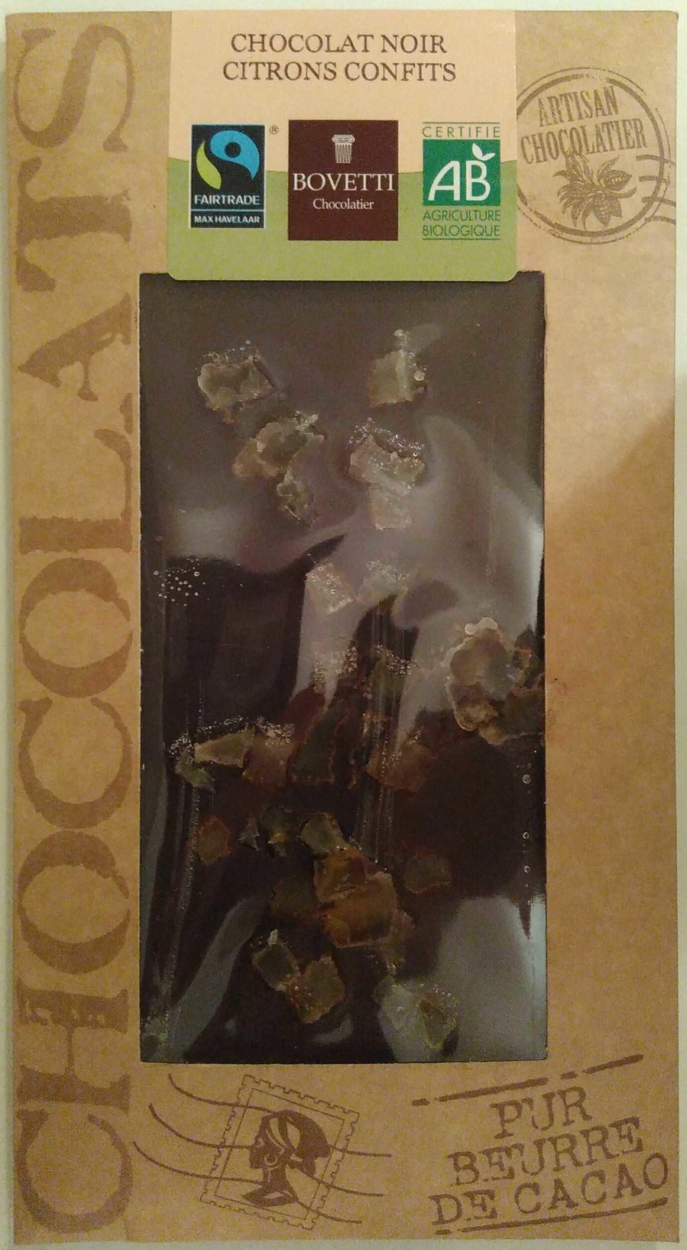 Chocolat noir citrons confits - Product
