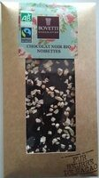 Chocolat noir bio noisettes - Produit - fr
