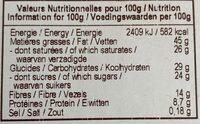 Chocolat noir bio noisettes - Informations nutritionnelles - fr