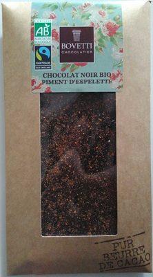Chocolat noir bio piment d'Espelette - Produit - fr