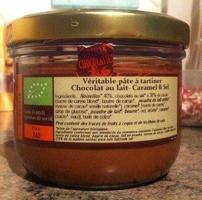 Pâte à tartiner Bio sans huile de palme, sans gluten - Produit - fr