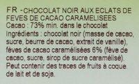 Chocolat noir Fèves de cacao - Ingrediënten