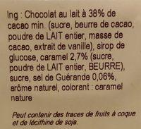 Chocolat lait caramel & sel de Guérande - Ingredients