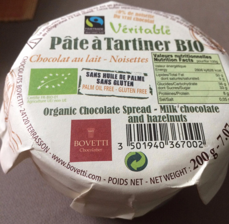 Pâte à Tartiner Bio Chocolat au Lait - Noisettes - Produit