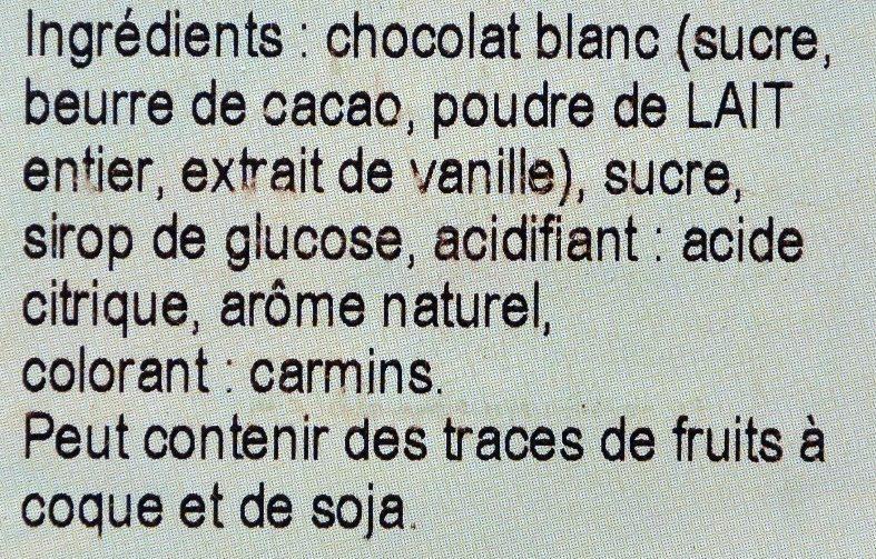 Chocolat Blanc Saveur Framboise - Ingredientes