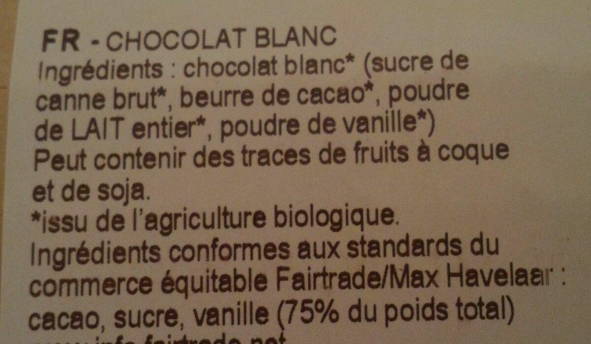 Chocolat blanc bio - Ingredients - fr
