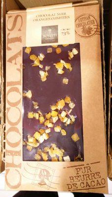 Chocolat noir oranges confites - Produit - fr