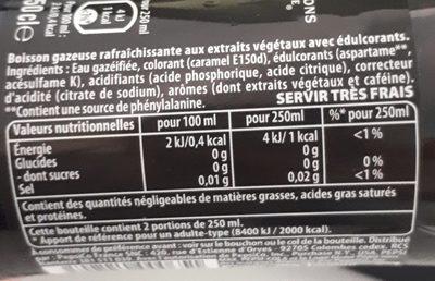 Pepsi Max - Ingrediënten - fr