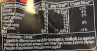 Pepsi Max (zéro sucres) - Informations nutritionnelles - fr