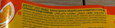 Blle Pet 2L Mirinda Orange - Ingrédients