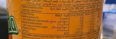 Blle Pet 2L Mirinda Orange - Informations nutritionnelles - fr