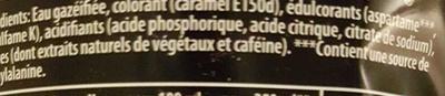 Pepsi Max (zéro sucres) - Ingrédients - fr