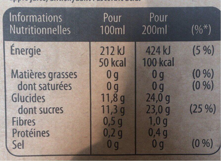 Pure Premium Pommes douces - Nutrition facts - fr
