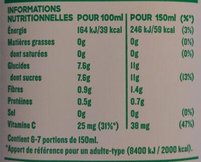 Tropicana Pure premium pamplemousse rose 1 L - Informations nutritionnelles - fr