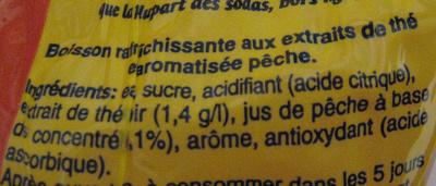Lipton Ice Tea saveur pêche (lot de 2 x 1,5 L) - Ingrédients